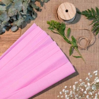 papier-crepon-carnaval-diy-rose-lilas | jourdefete.com