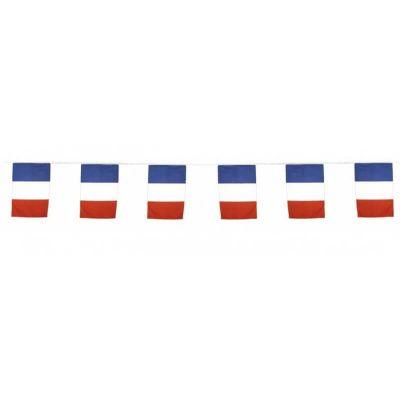 guirlande de drapeaux tricolores France de 10 mètres | jourdefete.com