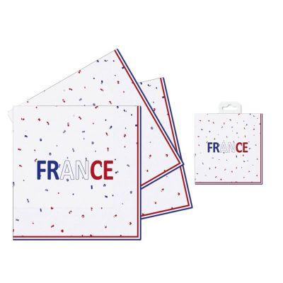 16 serviettes papier france | jourdefete.com