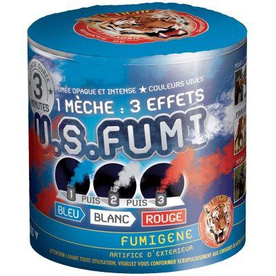 Fumigène 3 Minutes - Bleu Blanc Rouge | jourdefete.com