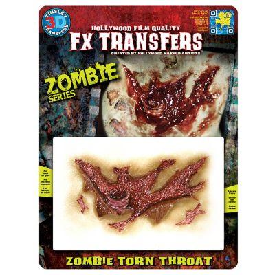 "Transfert cicatrice 3D ""Gorge zombie"""