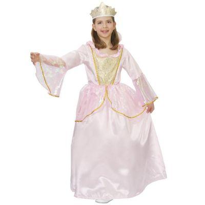 tenue Princesse Rose et Or Fille