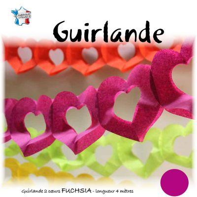 Guirlande Cœur Fuchsia