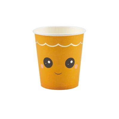 8 gobelets en carton citrouille sweety | jourdefete.com