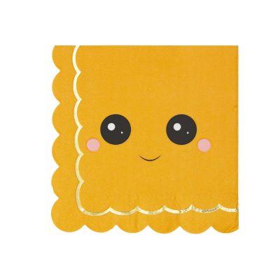 16 serviettes citrouille collection sweety | jourdefete.com