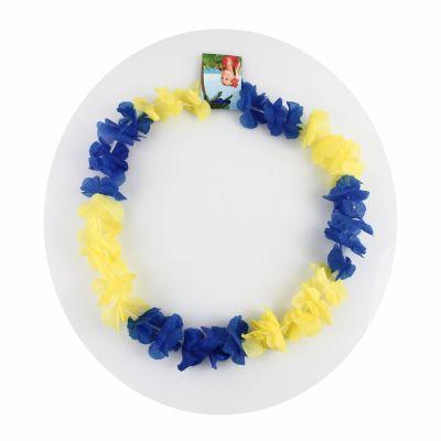 Collier Hawaïen Jaune et Bleu