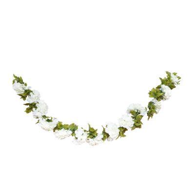 guirlande de fleurs blanches- 220 cm | jourdefete.com