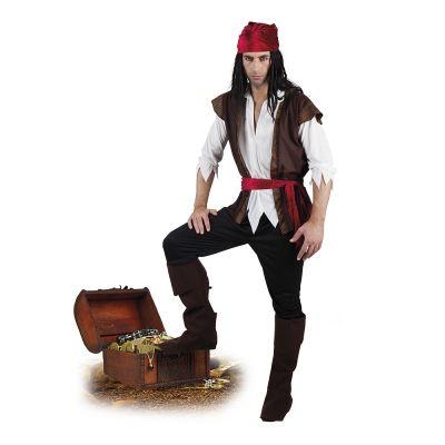 Déguisement de Pirate Ténébreux Homme - Taille au Choix