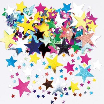 Confettis en Forme d'Etoiles Multicolores - 14 gr