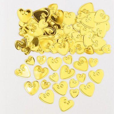Confettis Cœurs Relief Or - 14 gr