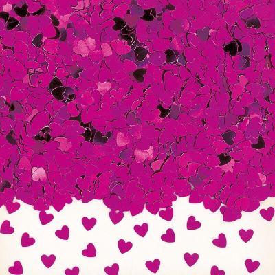 Confettis Cœurs Roses - 14 gr