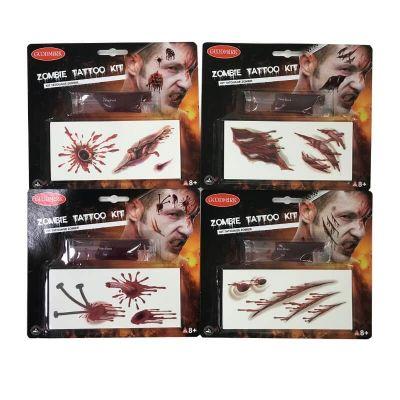 kit de tatouages zombie | jourdefete.com