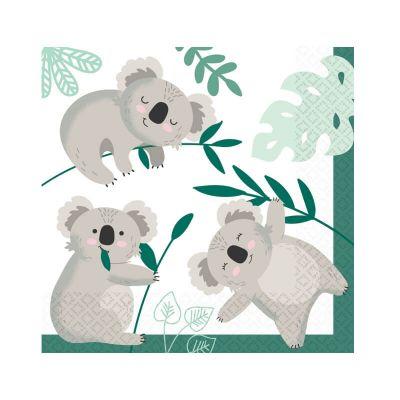 16 serviettes en papier collection koala   jourdefete.com