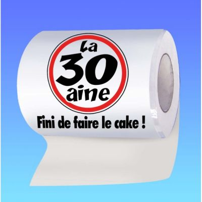 Papier toilette humoristique anniversaire : la 30 aine