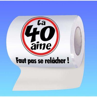 Papier toilette humoristique anniversaire : la 40 aine