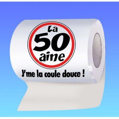 Papier toilette humoristique anniversaire : la 50 aine