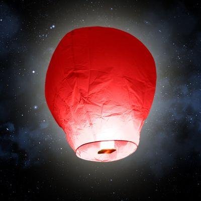 """Lanterne volante """"ballon"""" - Rouge"""