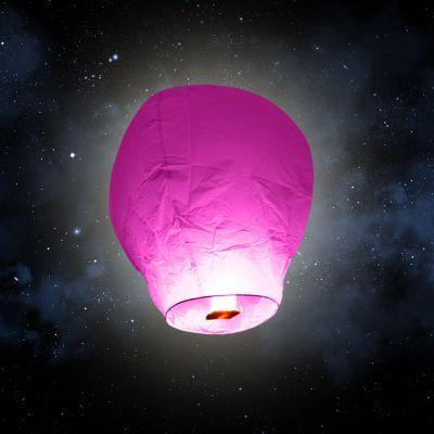"""Lanterne volante """"ballon"""" - Fuschia"""