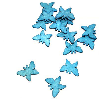 Sachet de 15 Papillons en Gomme Décoration de table Turquoise