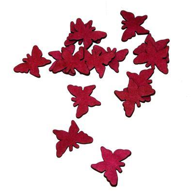 Sachet de 15 Papillons en Gomme Décoration de table Bordeaux
