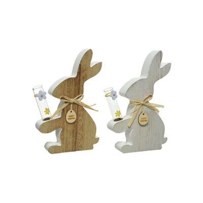 lapin-bois-vase-paques-decoration | jourdefete.com