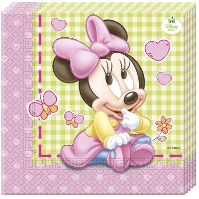 Lot de 20 Serviettes en Papier - Bébé Minnie Disney