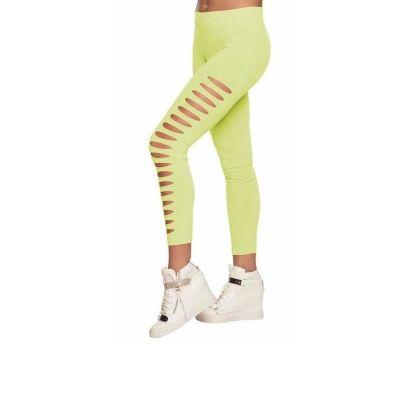 Leggings à Trou Vert - Taille Unique