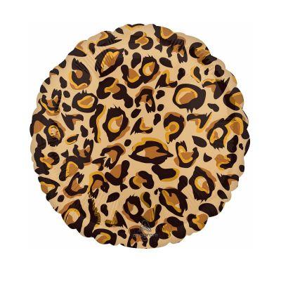ballon hélium leopard marron 43 cm | jourdefete.com