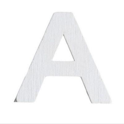 Lettre A en Bois Blanc - 5 cm