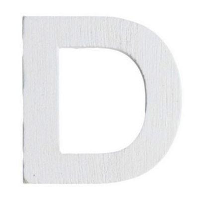 Lettre D en Bois Blanc - 5 cm