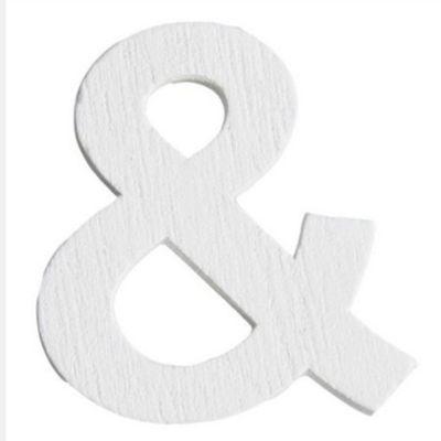 Lettre & en Bois Blanc - 5 cm