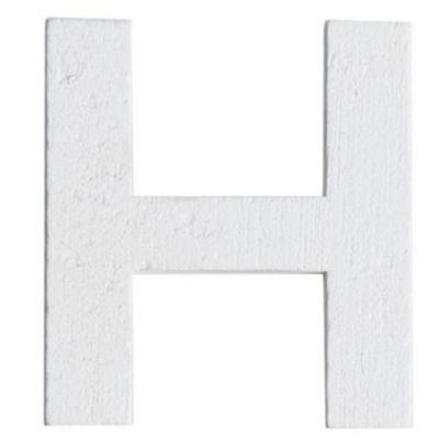 Lettre H en Bois Blanc - 5 cm