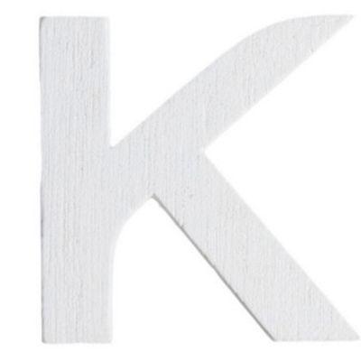 Lettre K en Bois Blanc - 5 cm