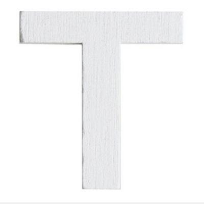 Lettre T en Bois Blanc - 5 cm