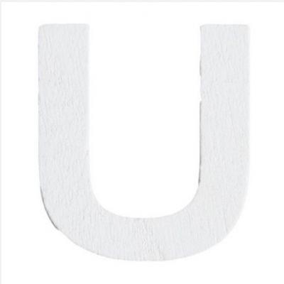 Lettre U en Bois Blanc - 5 cm