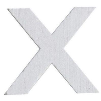 Lettre X en Bois Blanc - 5 cm