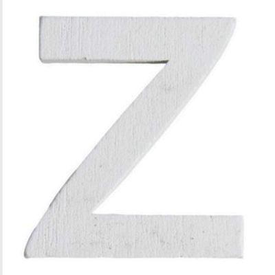 Lettre Z en Bois Blanc - 5 cm