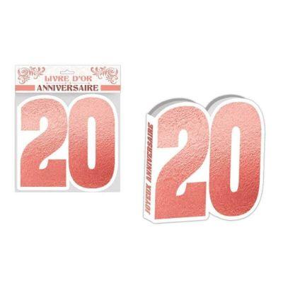livre-d'or-anniversaire-rose-gold-age | jourdefete.com