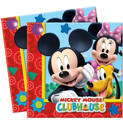 Pack de 20 serviettes Mickey Mouse ® - 33x33cm