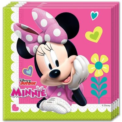 Lot de 20 Serviettes en Papier - Minnie Mouse et Daisy Duck - Disney Junior