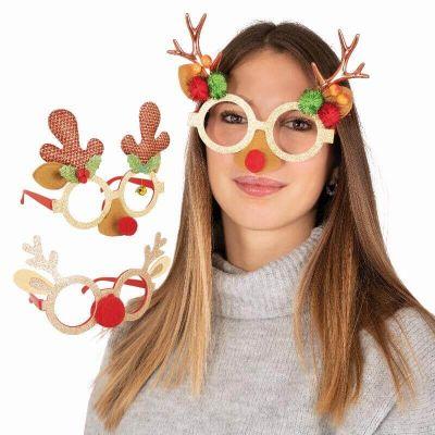 lunettes à paillettes renne pour adulte   jourdefete.com