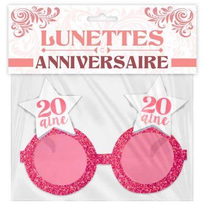 lunettes-anniversaire-rose-paillettes | jourdefete.com
