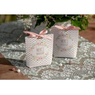 6 boites a dragees collection mariage fleuri | jourdefete.com