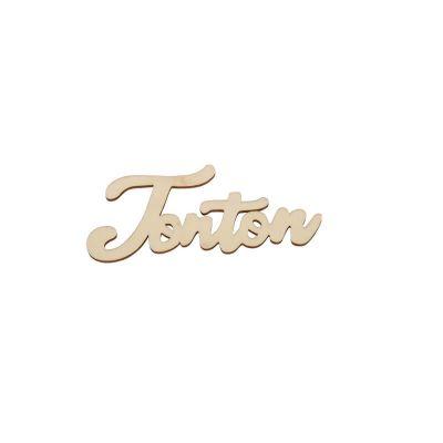 marque place en bois découpé au laser tata ou tonton ou mamie ou papy | jourdefete.com