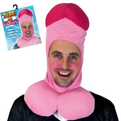 cagoule tête de gland, bonnet en forme de zizi