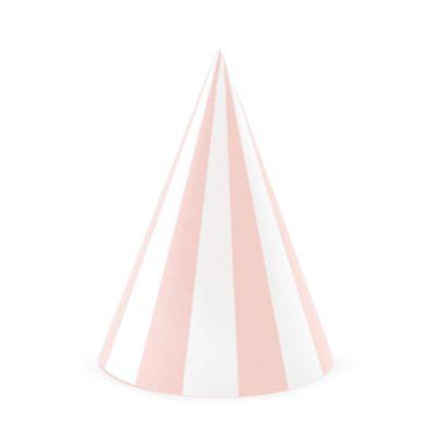 chapeau-anniversaire-rose-blanc-rayures|jourdefete.com
