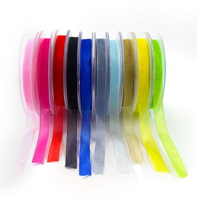 Ruban organdi 9mm - coloris au choix
