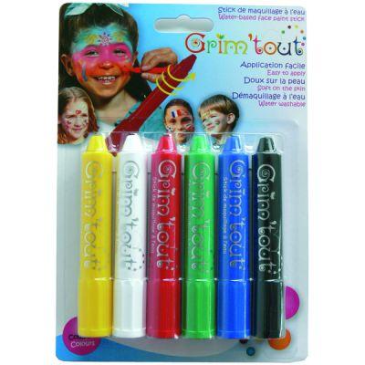 6 Crayons Maquillage Grim'Tout Enfant