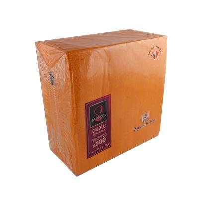 100 Serviettes Ouate de Cellulose Mandarine