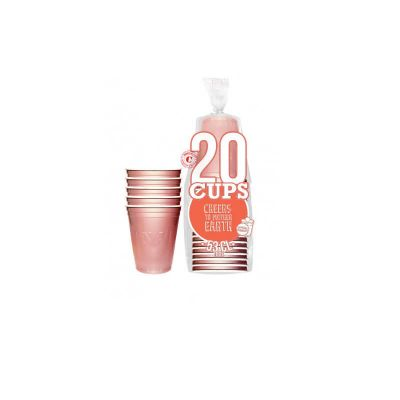 20 gobelets beer pong 53 cl rose gold | jourdefete.com